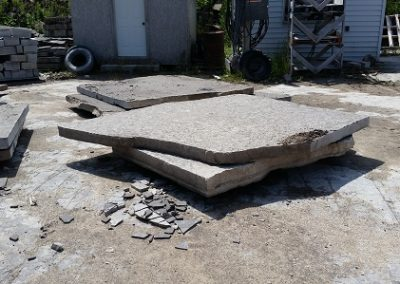 large random slabs